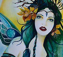 Spring Maiden faery by Helenfaerieart