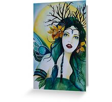 Spring Maiden faery Greeting Card