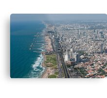 Aerial Photography of Tel Aviv coast line as seen from the south Metal Print