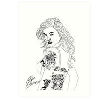 Metal Chick Graphic Art Print