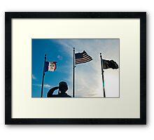 Slute to the Fallen Framed Print