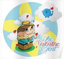 Mr. Cute Valentine Poster