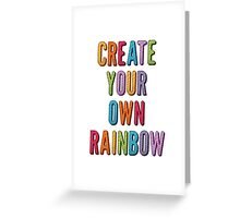 Create Your Own Rainbow Greeting Card
