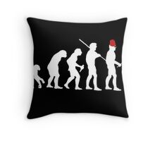 Evolution of the Time Lord Throw Pillow