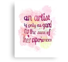 An Artist's Experiences Canvas Print