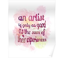 An Artist's Experiences Poster