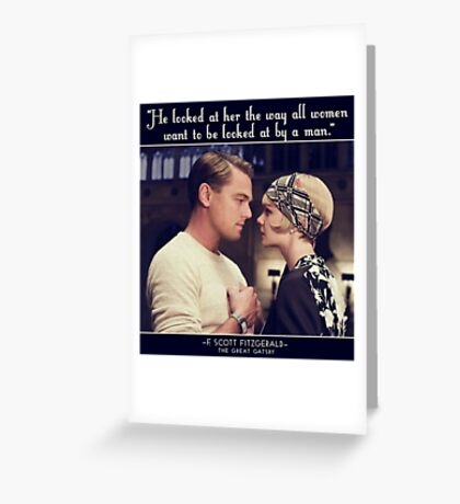 Great Gatsby Greeting Card