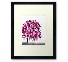 Purple Willow Framed Print