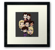Big bang Theory cartoon people Framed Print