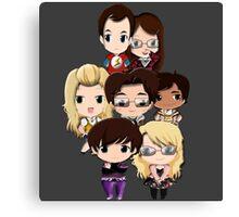 Big bang Theory cartoon people Canvas Print