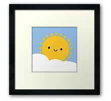 Kawaii Sun  Framed Print
