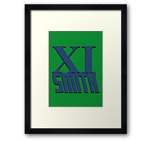 Doctor Who: XI -Smith Framed Print