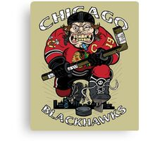 Chicago Blackhawk Skate or Die Canvas Print