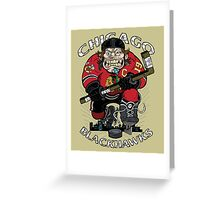Chicago Blackhawk Skate or Die Greeting Card
