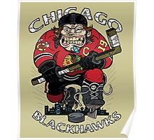Chicago Blackhawk Skate or Die Poster