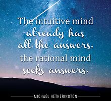Intuitive Mind and Rational Mind by Zenology Arts