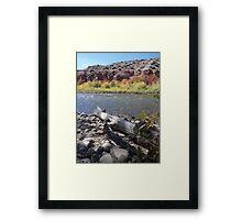 River shots Framed Print