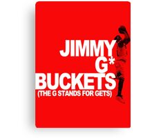 Jimmy G* Buckets Canvas Print