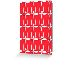 Retro Red Greeting Card
