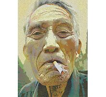Smoking cures salmon... Photographic Print