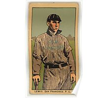 Benjamin K Edwards Collection Lewis San Francisco Team baseball card portrait Poster