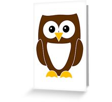 Brown Owl with White Belly Greeting Card