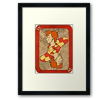 Fred and George Playing Card Framed Print