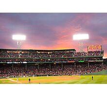 Boston Baseball Game Photographic Print