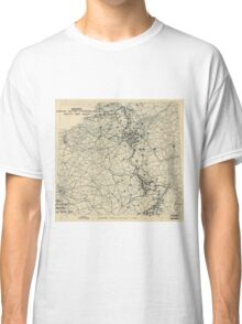 World War II Twelfth Army Group Situation Map December 3 1944 Classic T-Shirt