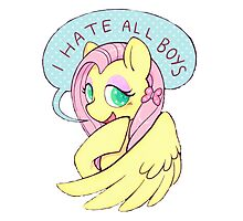 Fluttershy (I HATE ALL BOYS) Photographic Print