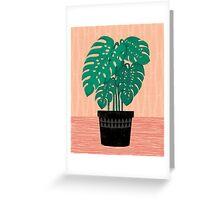 Cheese Plant - Trendy Hipster art for dorm decor, home decor, ferns, foliage, plants Greeting Card