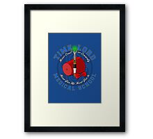 Time Lord Medical School 11 Framed Print