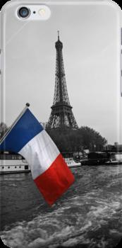 Eiffel Tower iPhone case by Rosie Appleton