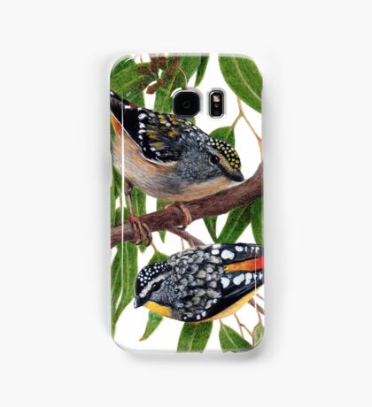 Spotted pardalotes Samsung Galaxy Case/Skin