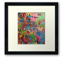 Abstract Colorful World Framed Print