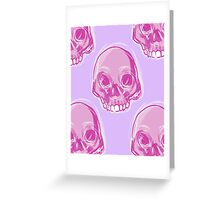 Pink Skull Greeting Card