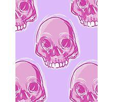 Pink Skull Photographic Print
