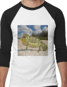 Flap-necked Chameleon - Namibia Men's Baseball ¾ T-Shirt