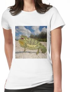 Flap-necked Chameleon - Namibia Womens Fitted T-Shirt