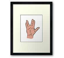 Live Long and Prosper Hand Sign Framed Print