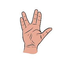Live Long and Prosper Hand Sign Photographic Print