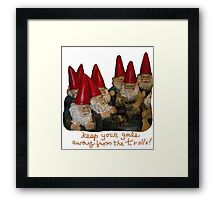 Keep Your Goals Away from the Trolls Framed Print