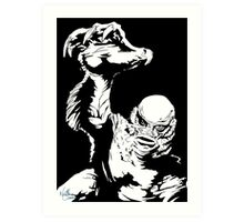 Creature from the Black Lagoon! Pop art insired Art Print
