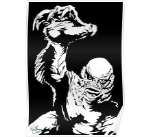 Creature from the Black Lagoon! Pop art insired Poster