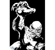 Creature from the Black Lagoon! Pop art insired Photographic Print