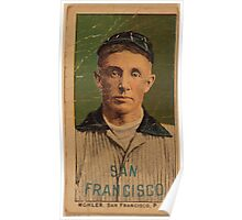 Benjamin K Edwards Collection Mohler San Francisco Team baseball card portrait Poster