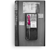 Pink Telephone Canvas Print