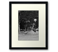City Lamps - Melbourne South Bank. Framed Print