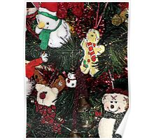 Christmas Decorations on Tree Poster