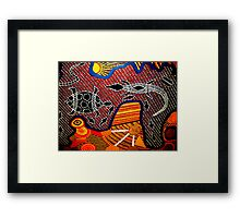 Outback Reptiles Framed Print